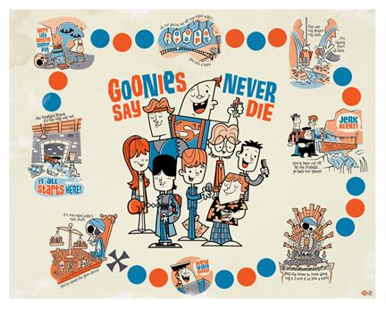 Goonies Never Say Die by Montygog