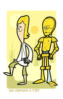 Luke n' C-3PO by Montygog