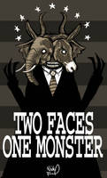 Two Faces, One Monster. by blackbirdpie