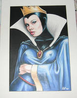 snow white evil queen by rotnhell