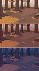 Autumn forest Background by carchagui