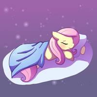 Sleeping Fluttershy by Butterscotch25