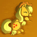 Sleeping Applejack by Butterscotch25
