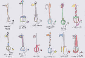 Kingdom Hearts Fan Keyblades by chibi-robo64