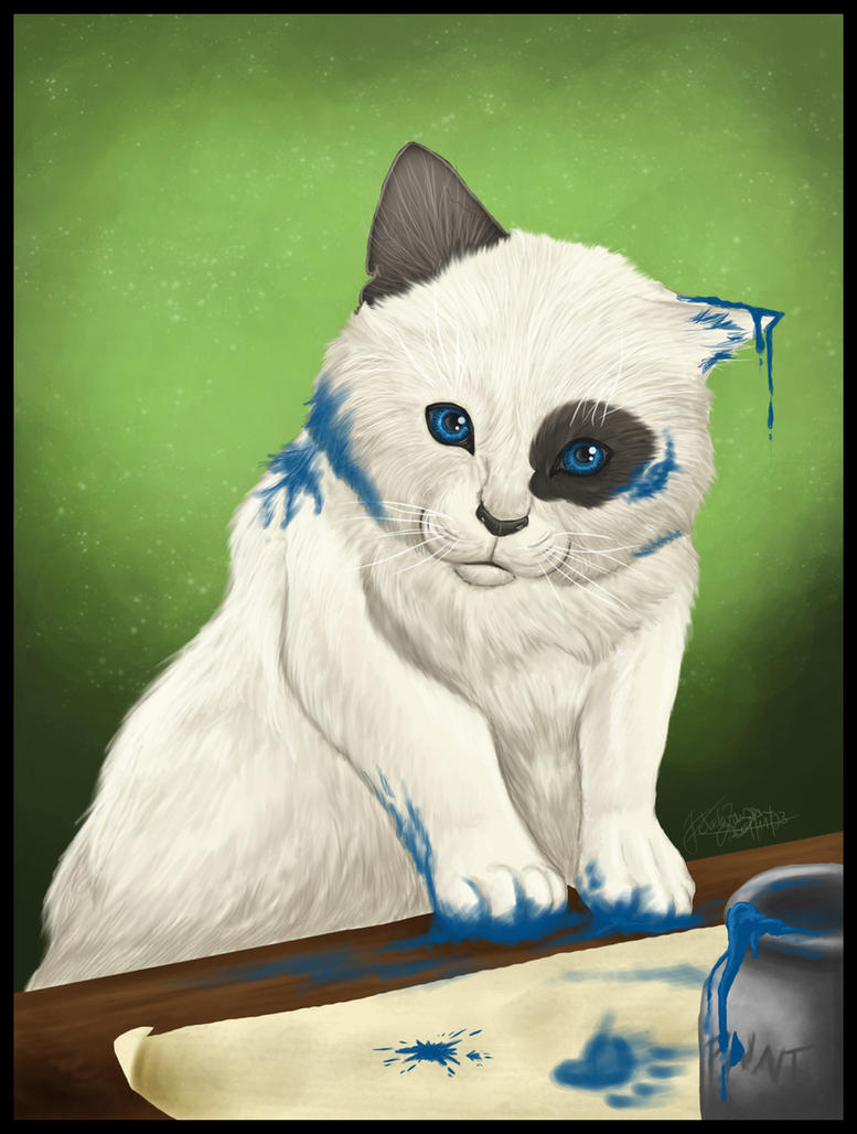 Paint Cat by AutumnPendullum