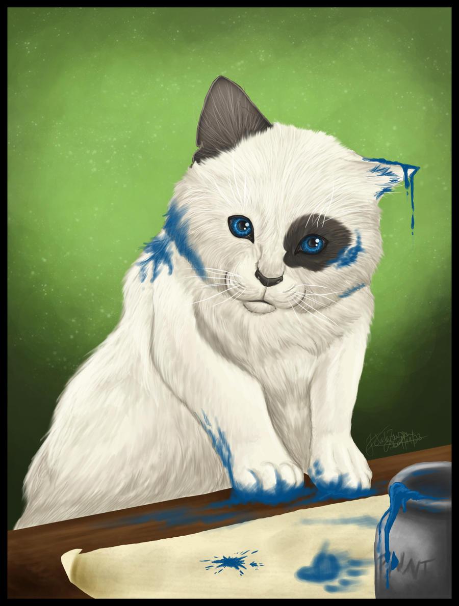 Paint Cat by AutumnPendullum