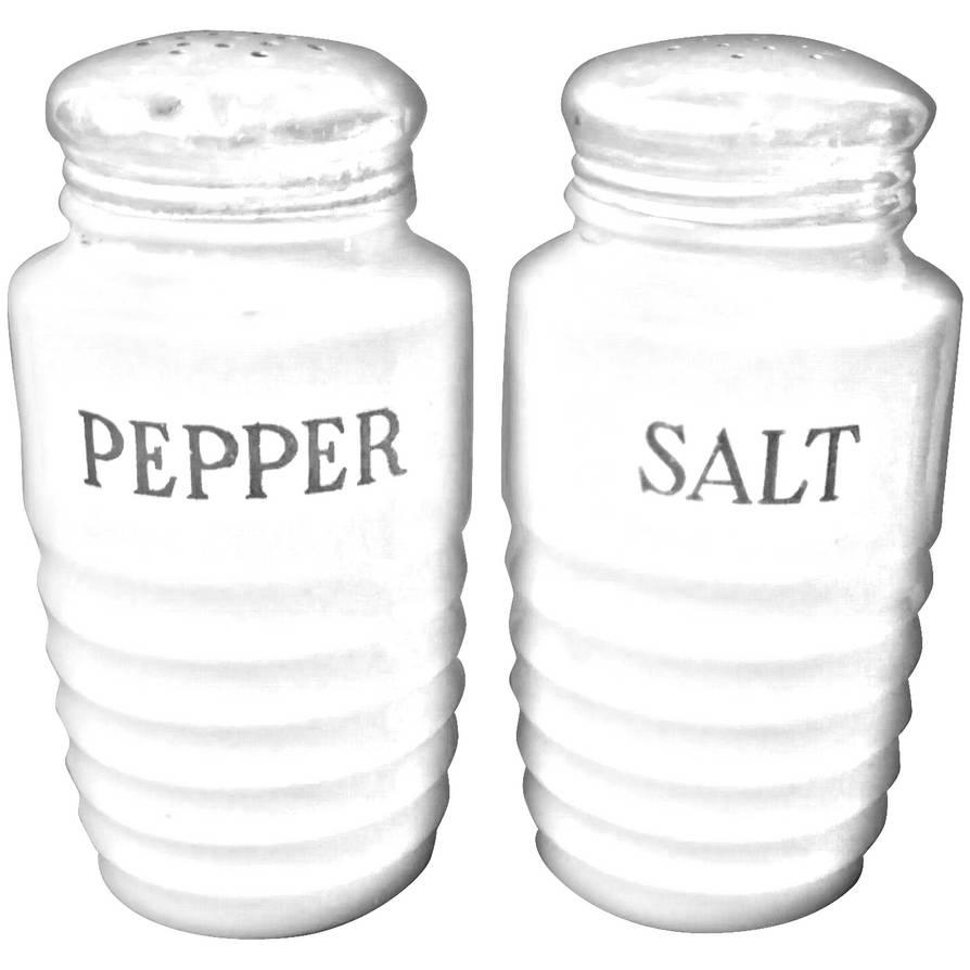Jeannette Jadite Salt Pepper Shakers Vintage Ribbe