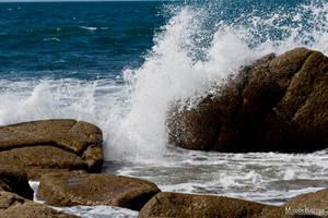 SPLASH ON ROCKS STOCK by ArwenArts