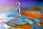 RAINBOW SLIDE DROP by ArwenArts