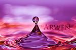 PURPLE SPELL DROP by ArwenArts