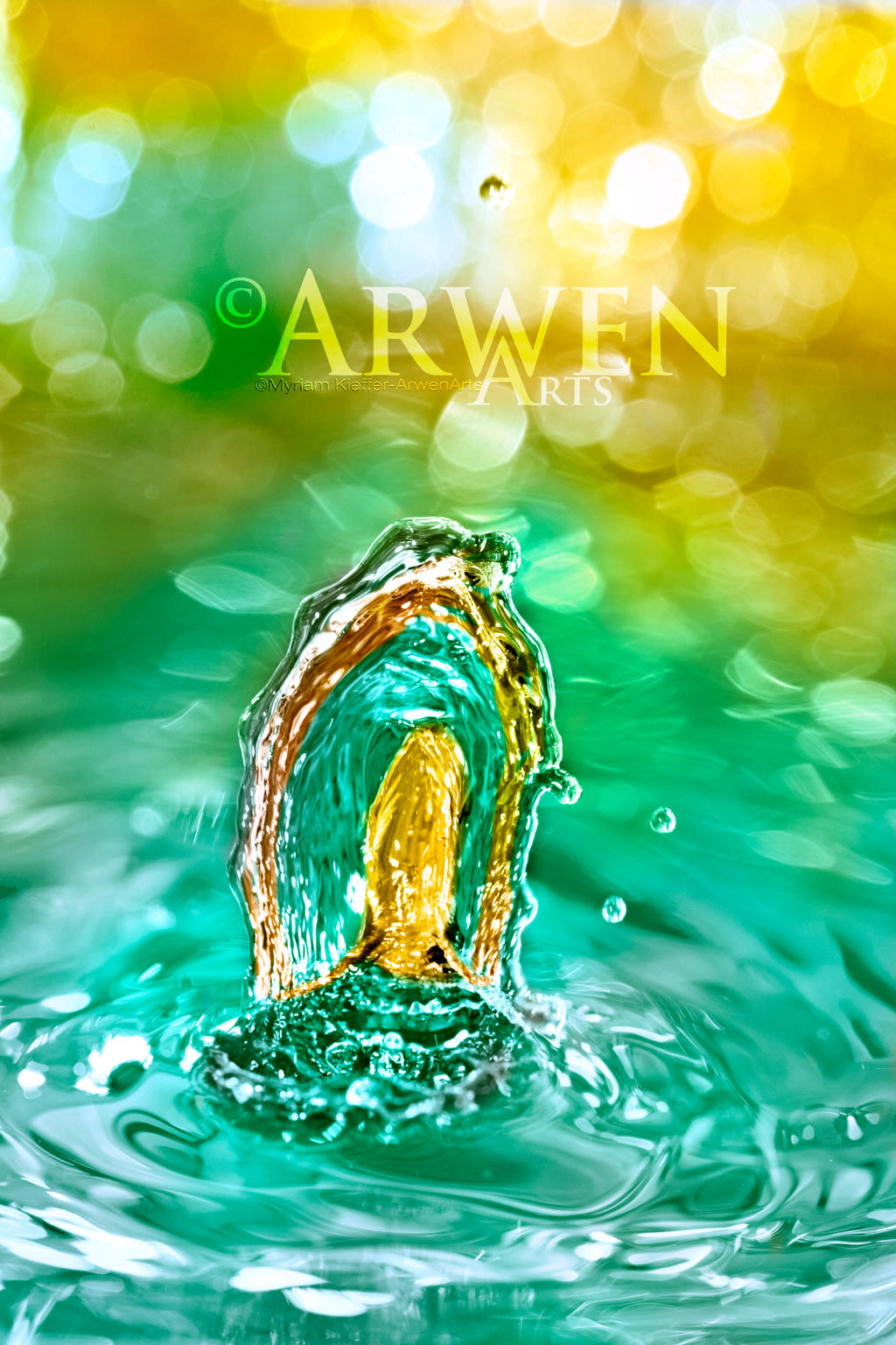 LEMON MINT BIG WHEEL DROP by ArwenArts