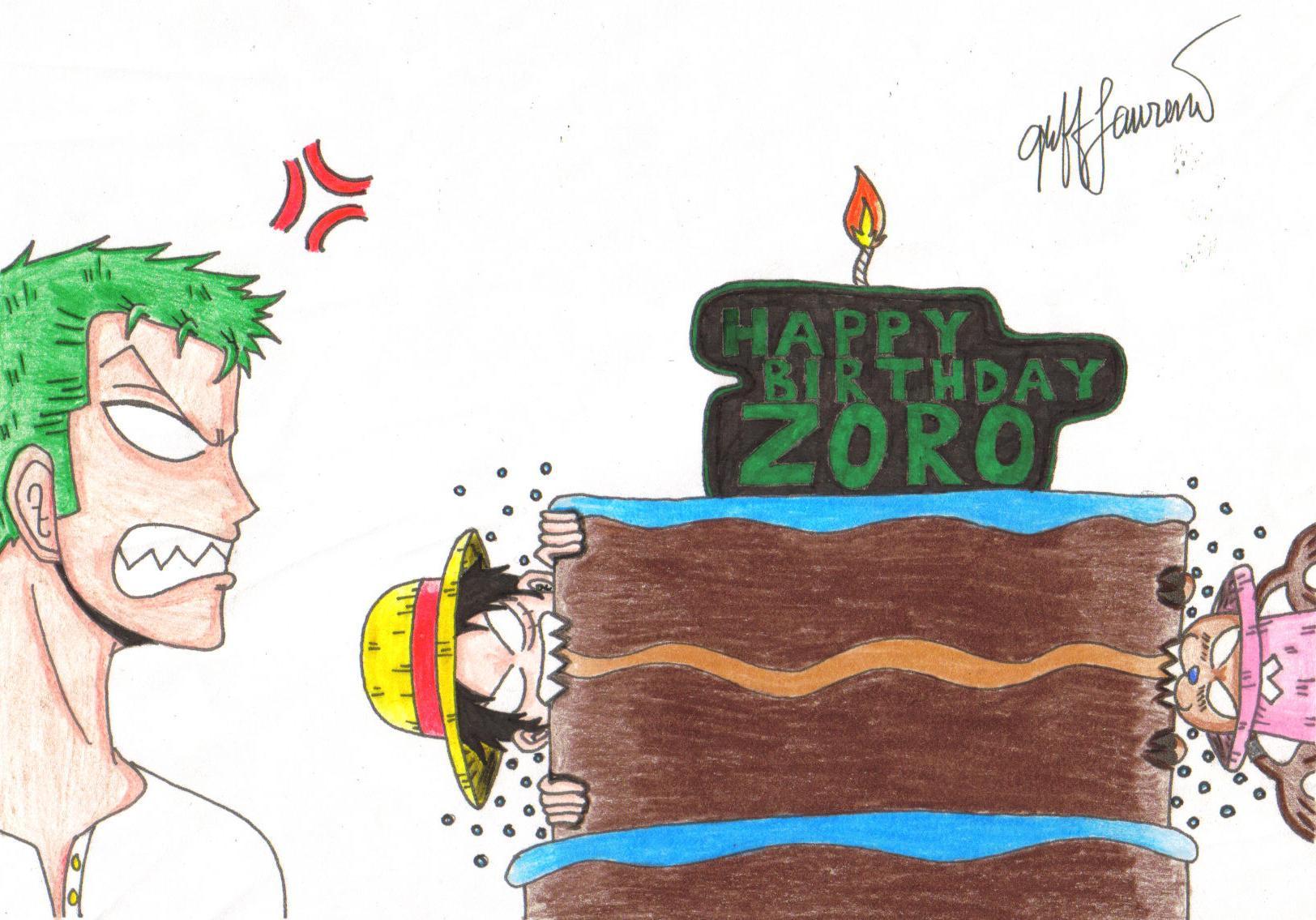 PUES QUE DECIR MAS QUE FELIZ CUMPLE ZORRO Happy_Birthday_Zoro_by_gbert15