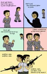 Chibi Comic: Rebel Girl by Regendy