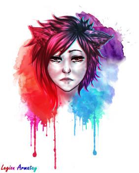 [OC] Lylian - Watercolor effect