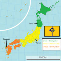 Map Of Japanese Territories Of Daimyos Eds by Catholic-Ronin