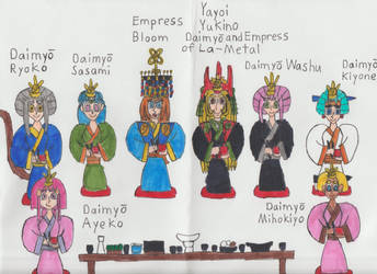 Empress Bloom And Her Wifes Have A Meal by Catholic-Ronin