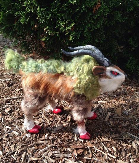 Pokemon Gogoat Posable OOAK Doll by AmethystCreatures