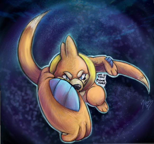 Buizel with ToxicVisage {collab} by AmethystCreatures