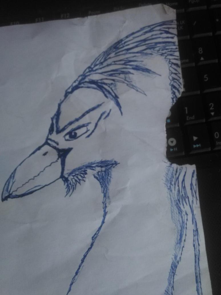 Pen Stuff 05 (me as phoenix) by Martinkarovic