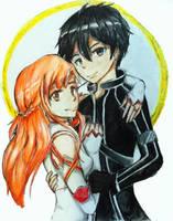 Kirito and Asuna by Beea-chan