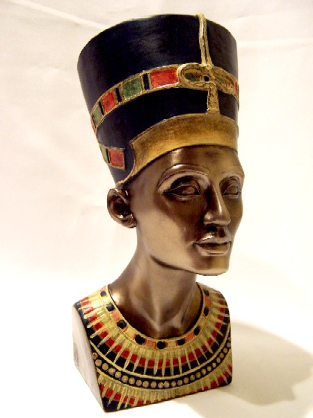 coloured bust of Nefertiti by disturbedstock