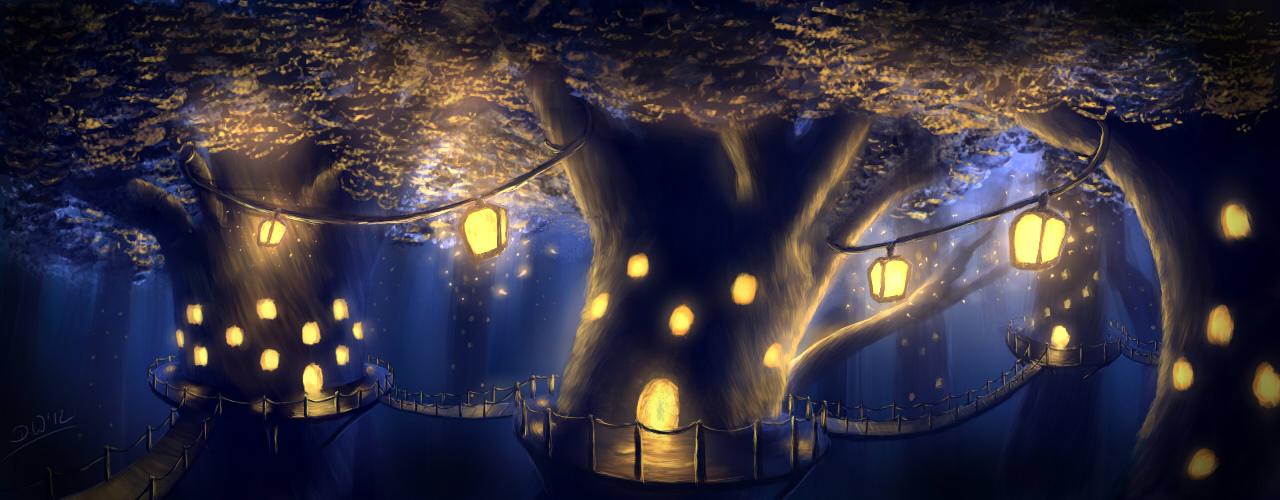 Capítulo I: ¡En busca del bosque pluma! Tree_city_by_falindriel-d4wch61