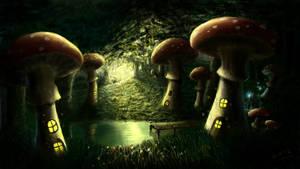 Mushroom Village by danielwachter