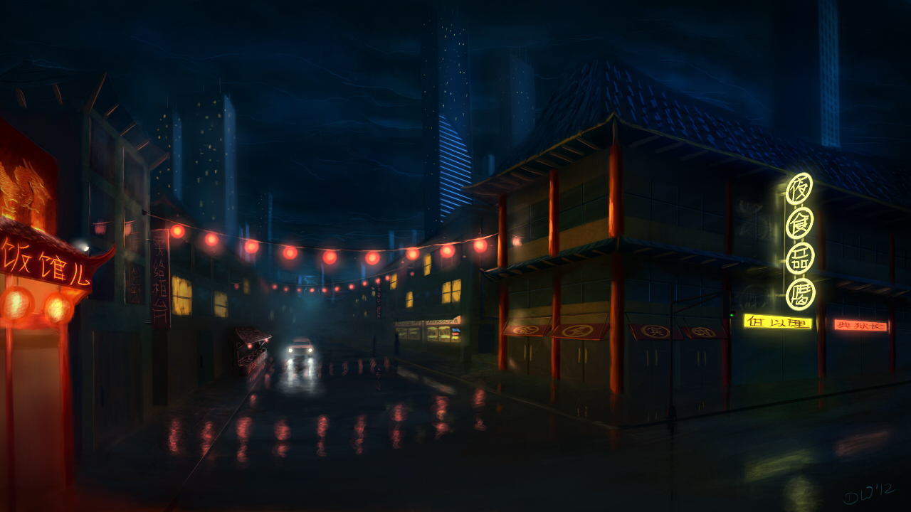 China Town By Danielwachter On Deviantart