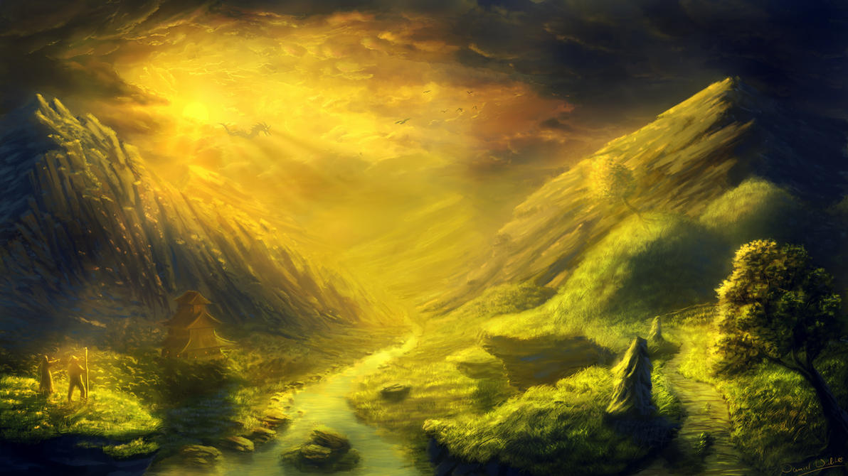 digital paintings scenery - photo #42