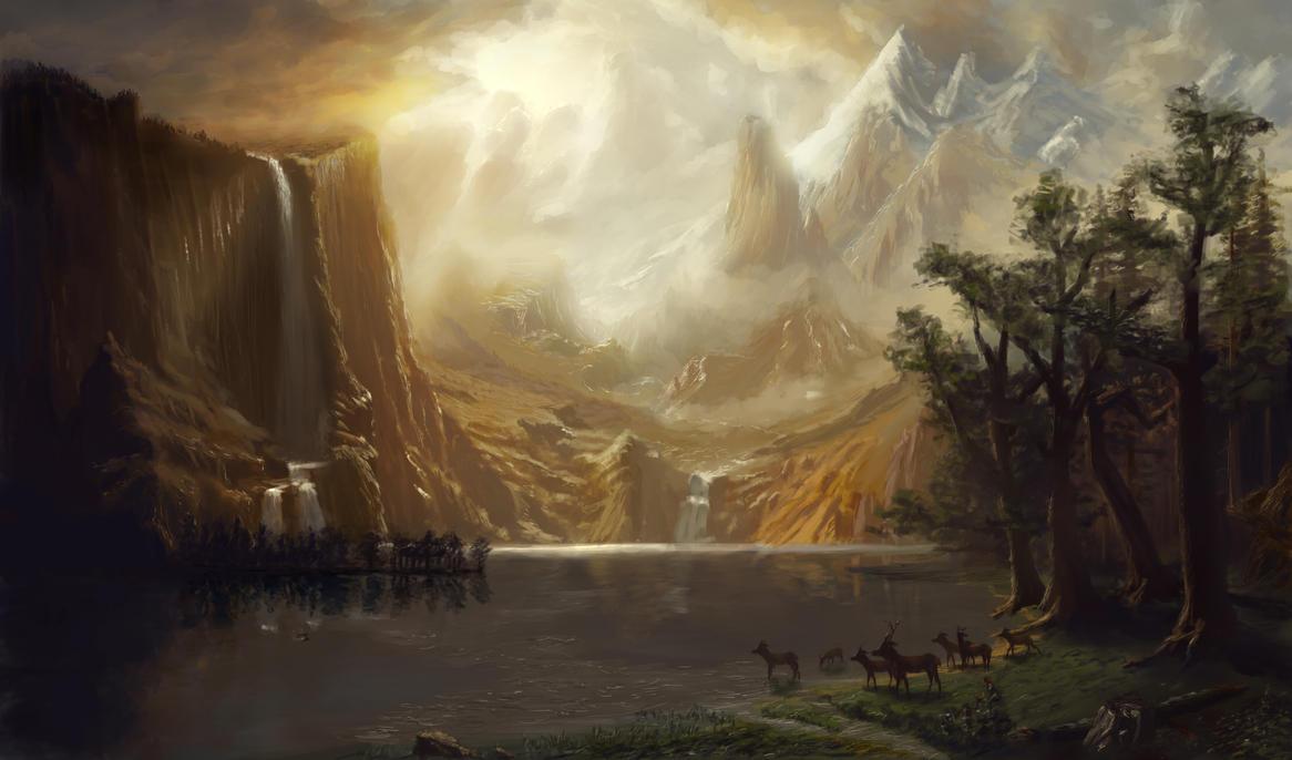 Master study: Bierstadt by danielwachter