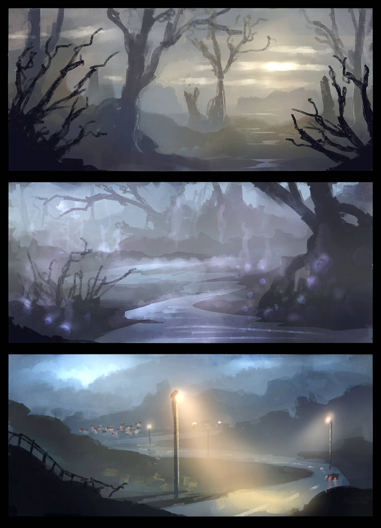 Environment Sketches (Video-Link inside) by danielwachter