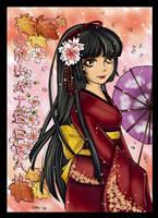 Lady in Kimono CG by Khateerah