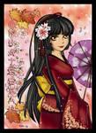 Lady in Kimono CG