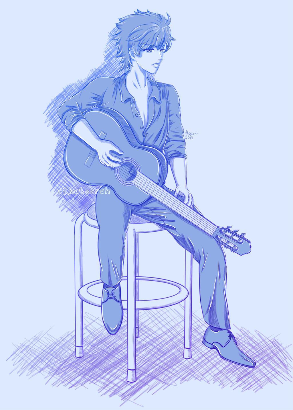 Guitar Player Sketch by Khateerah on DeviantArt