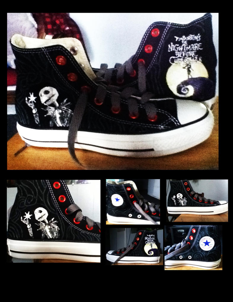 The Nightmare Before Christmas Converse by KIRA009 on DeviantArt