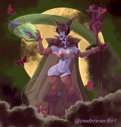Penny the Dragon Priestess by vanderWaardart