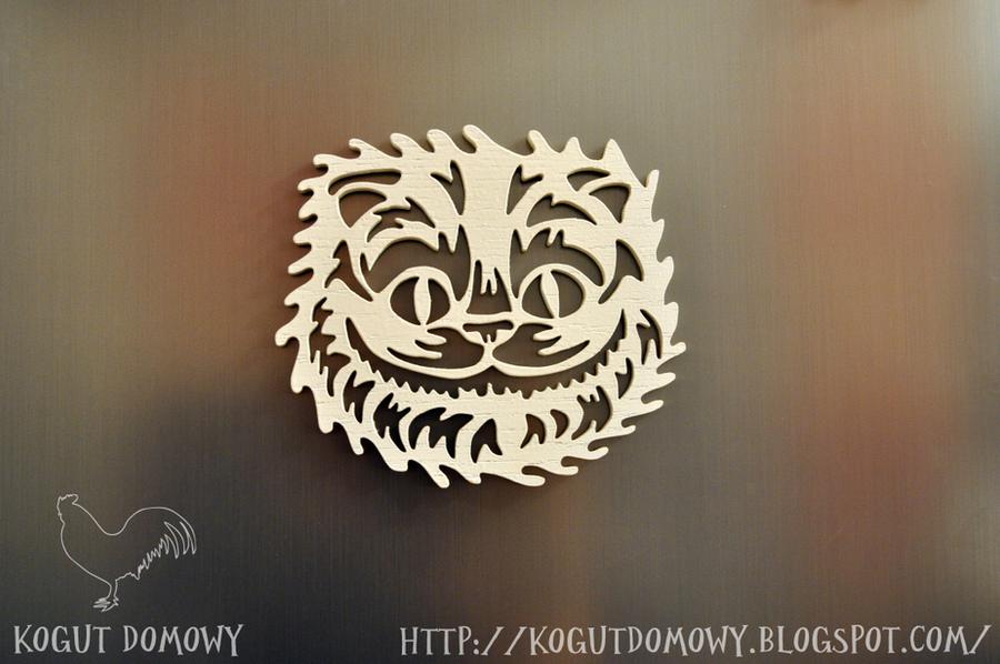 Chesshur the Cheschire Cat Fridge Magnet by M2Grzegorczyk