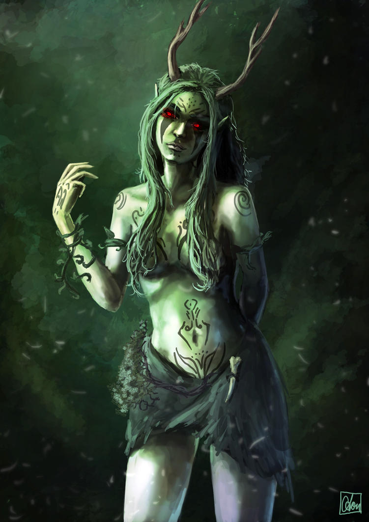 Corrupted Dryad by Aon616