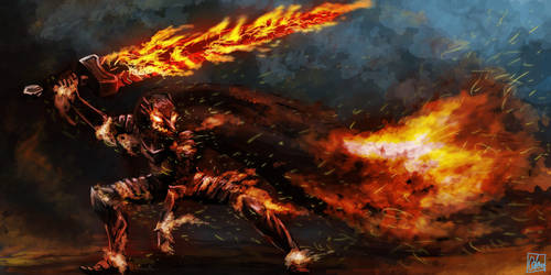 Warrior of Fire by Aon616