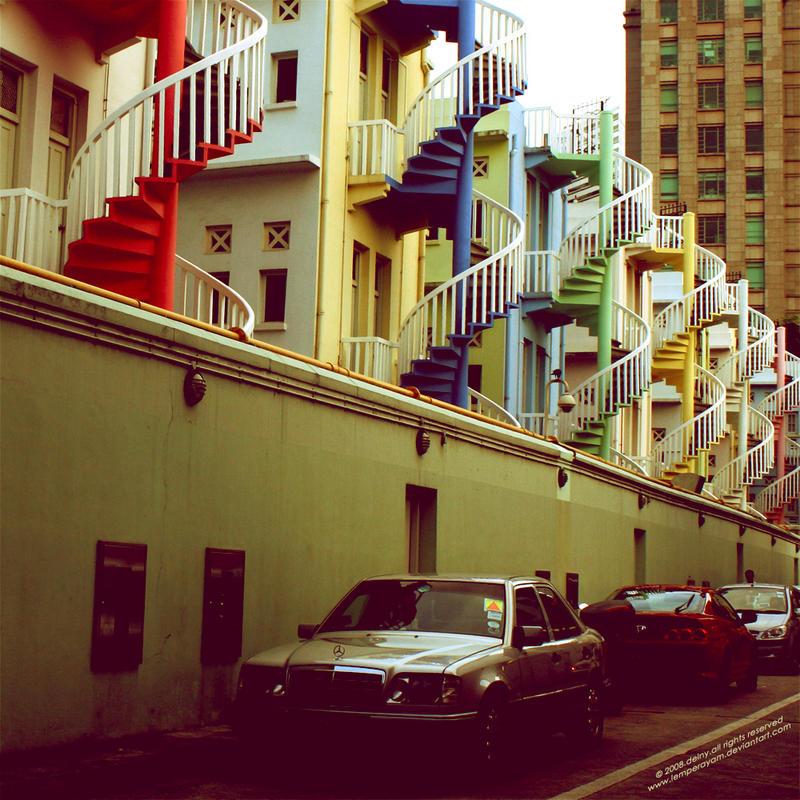 Rainbow Stairs by lemperayam