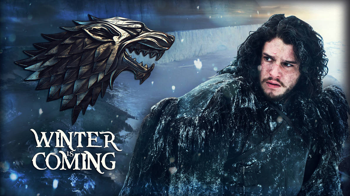 Game Of Thrones Jon Snow Winter Is Coming By Gusseart On Deviantart