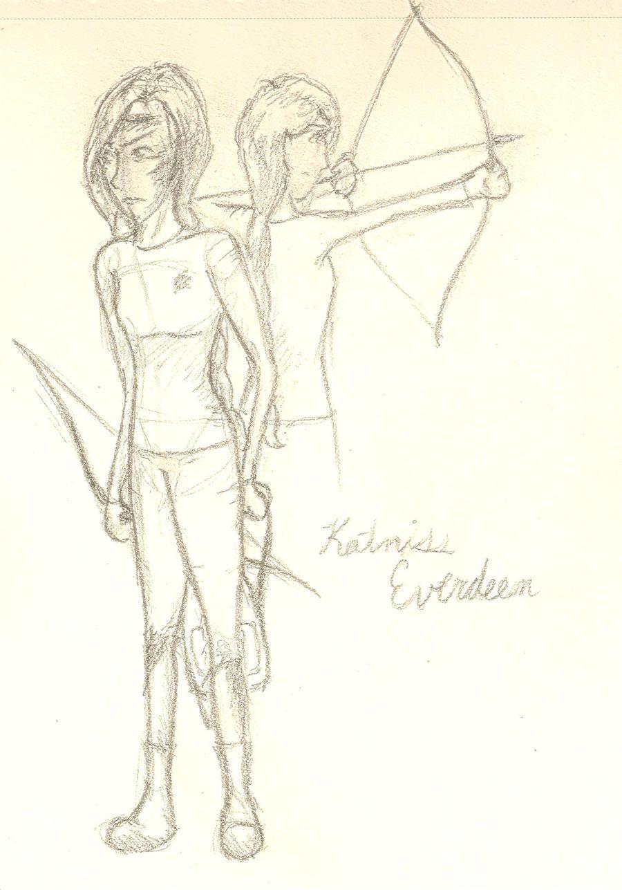 how to draw katniss everdeen