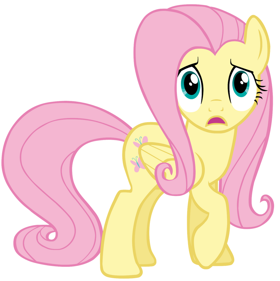 Frightened Fluttershy by SilverMapWolf on DeviantArt