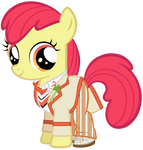 Apple Bloom as the 5th Doctor