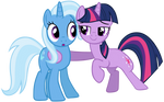 Trixie and Twilight Sparkle