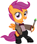 Scootaloo as the 11th Doctor