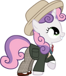 Sweetie Belle as the 7th Doctor