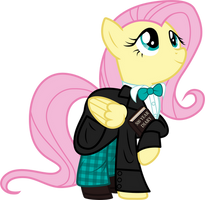Fluttershy as the 2nd Doctor by CloudyGlow