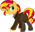 Sunset Shimmer as the War Doctor