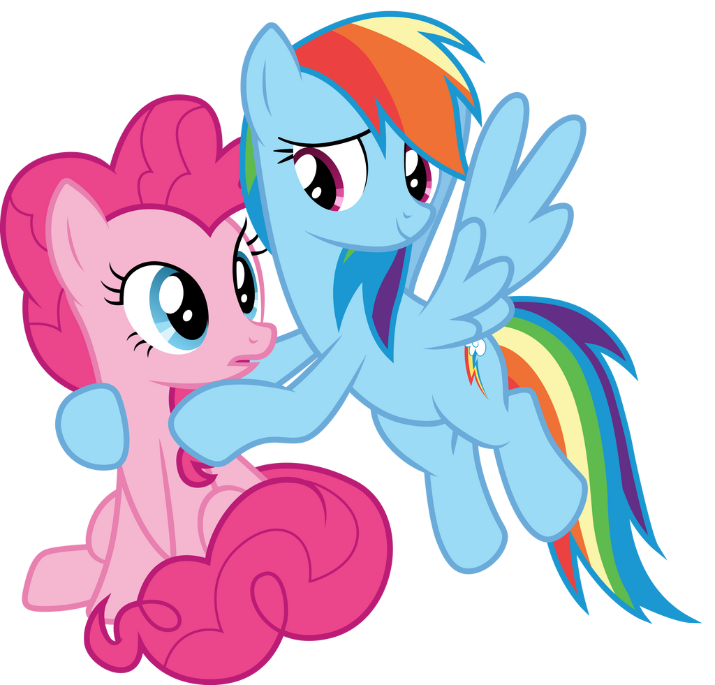 Pinkie and Dash by CloudyGlow on DeviantArt
